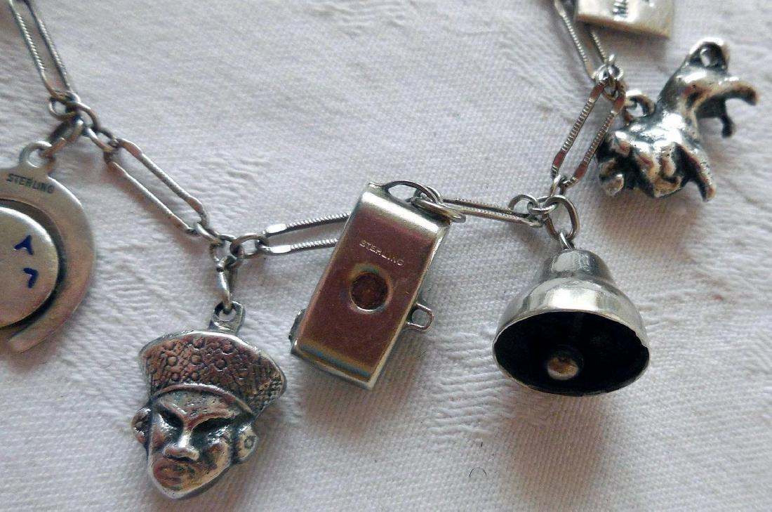 Sterling Silver Charm Bracelet - 5