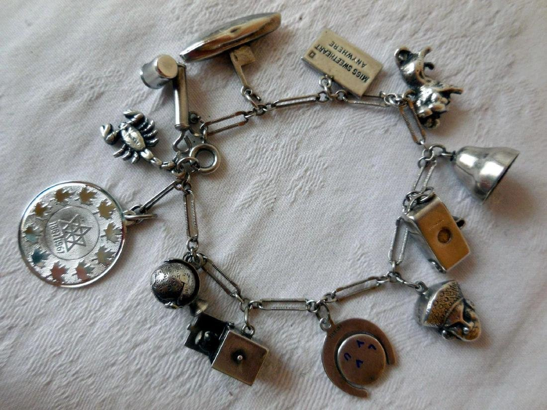Sterling Silver Charm Bracelet - 6