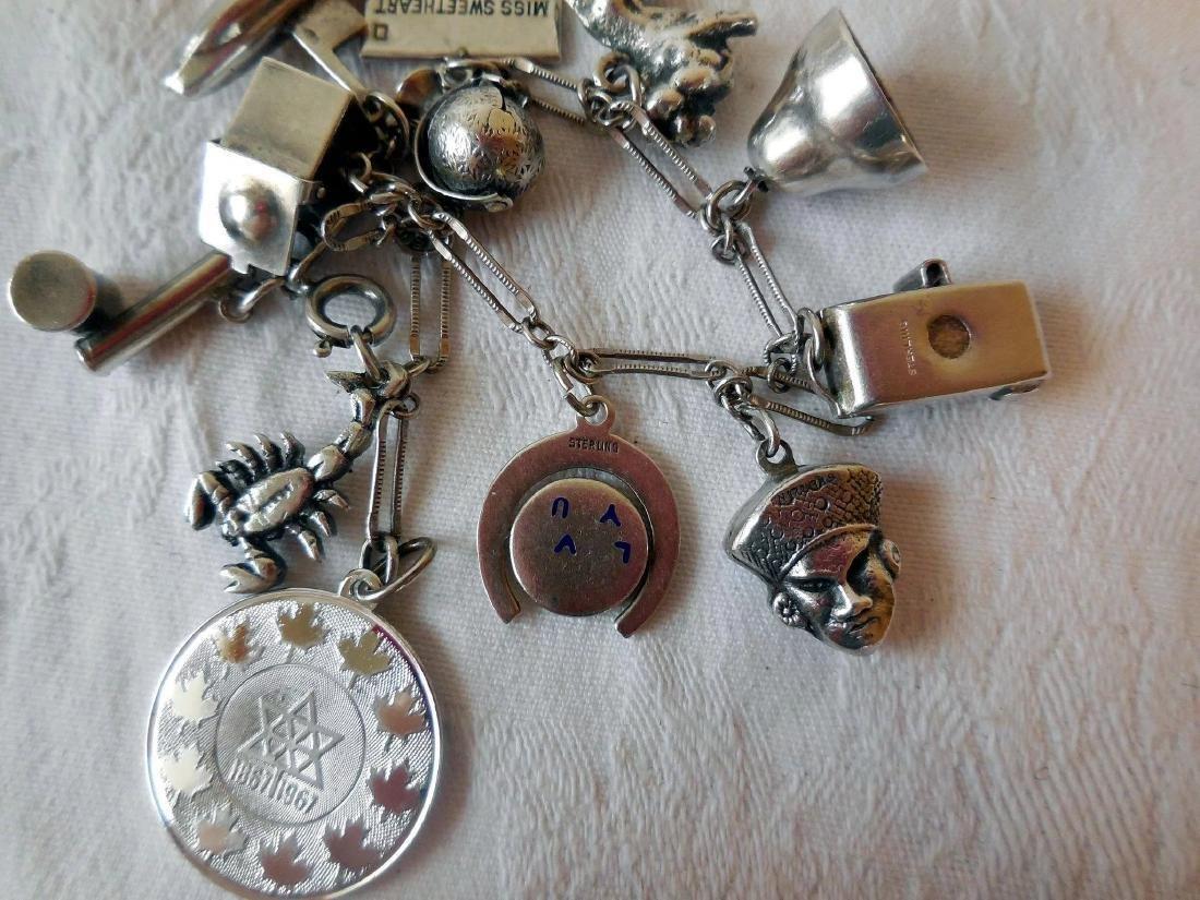 Sterling Silver Charm Bracelet - 9
