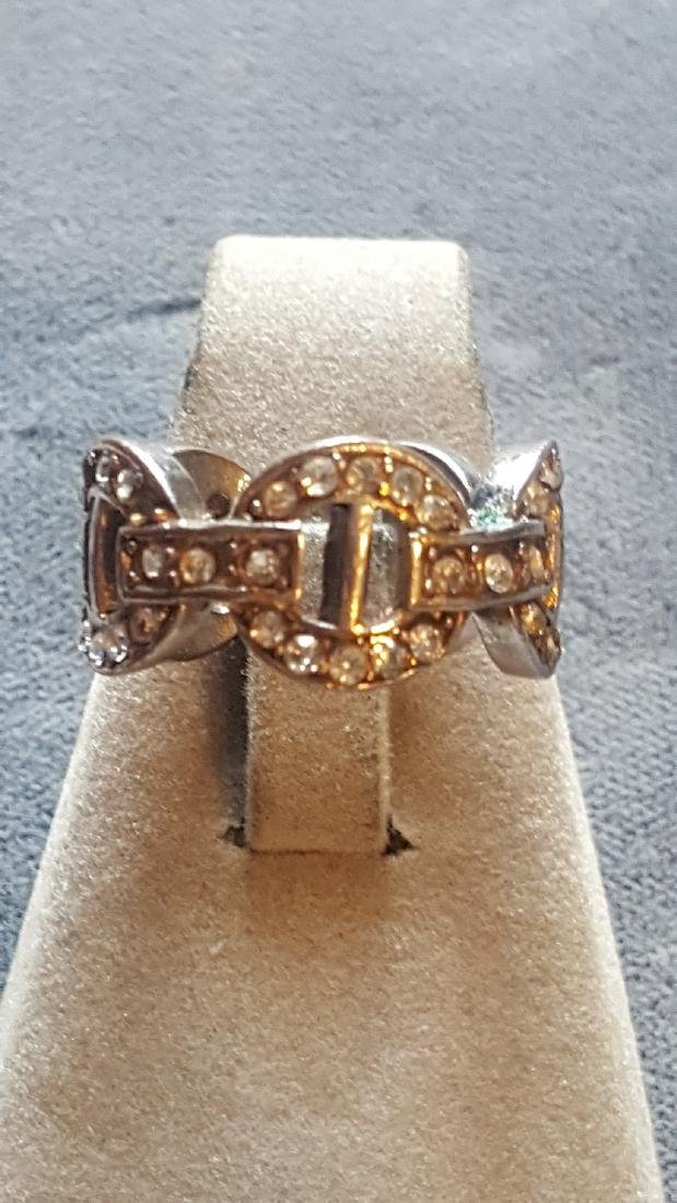 Beautiful CZ O Band Ring