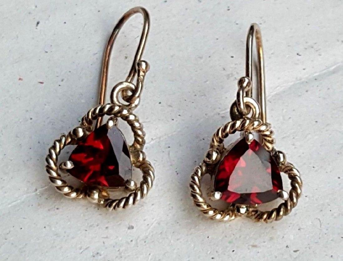 Rhodolite Garnet Earrings - 2