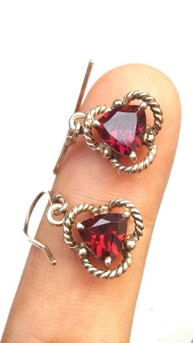 Rhodolite Garnet Earrings - 3