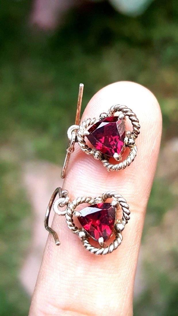 Rhodolite Garnet Earrings - 4