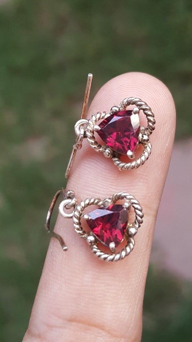 Rhodolite Garnet Earrings - 5