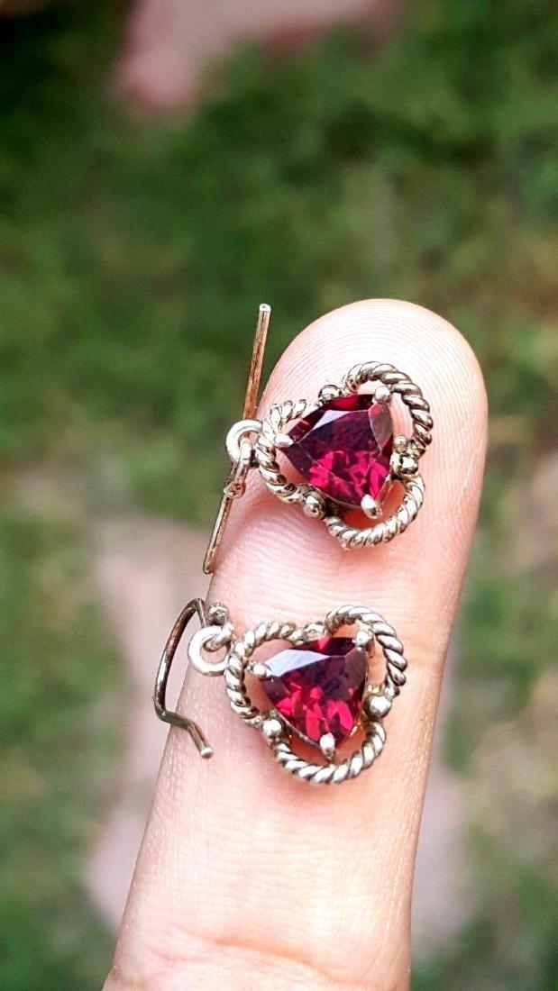 Rhodolite Garnet Earrings - 6