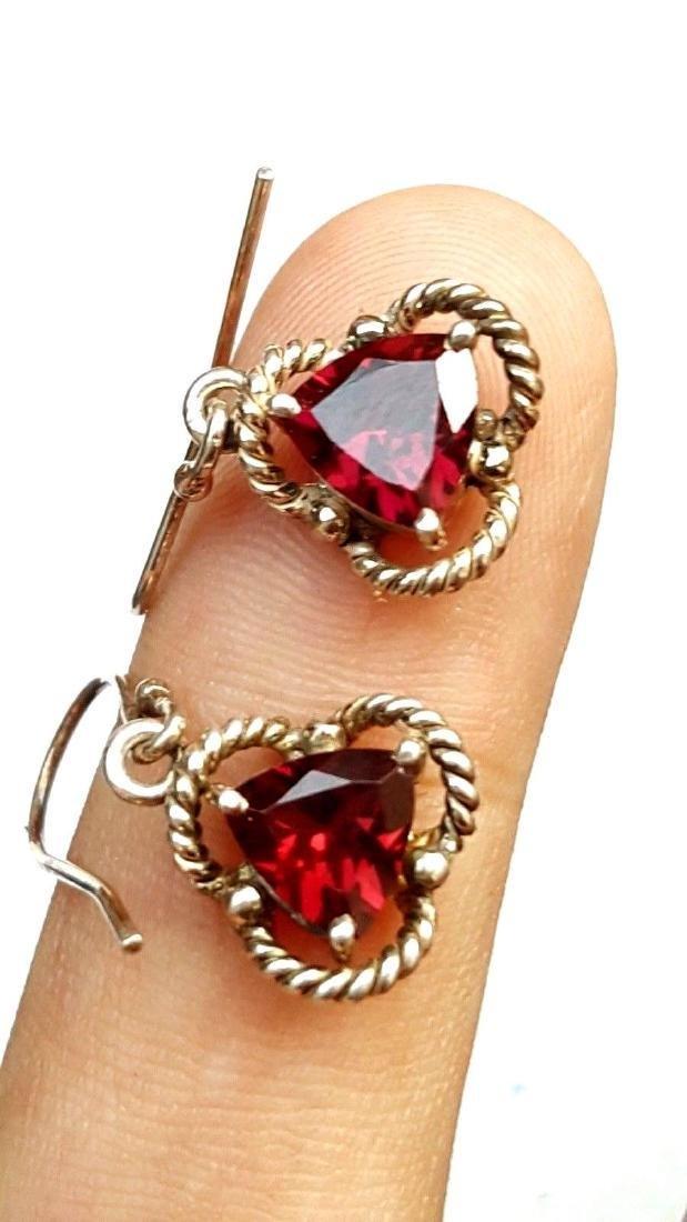 Rhodolite Garnet Earrings - 7