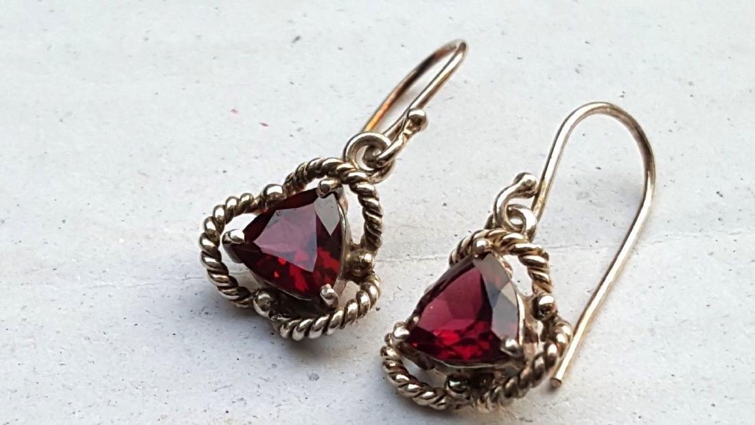 Rhodolite Garnet Earrings - 8
