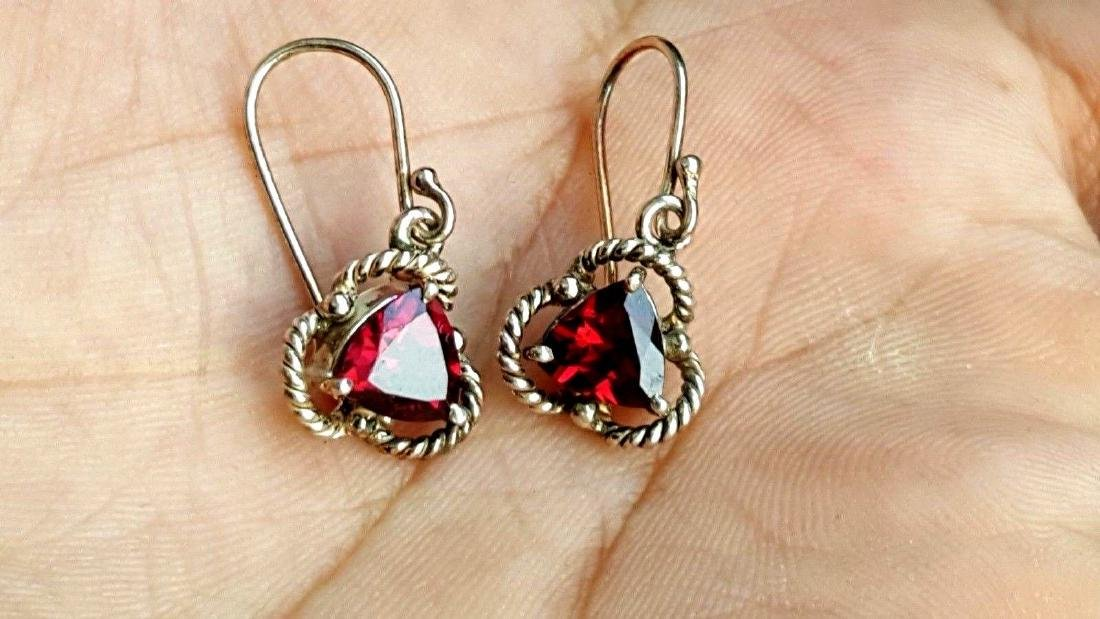 Rhodolite Garnet Earrings - 9