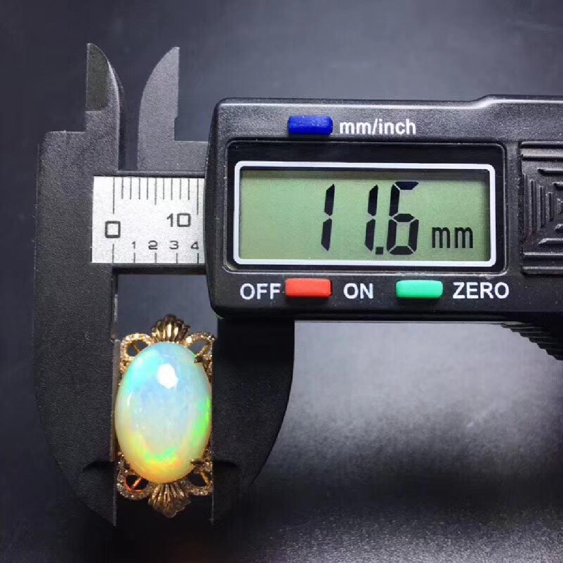 7.7 CTW Opal & VS Diamond Ring 18K - 7