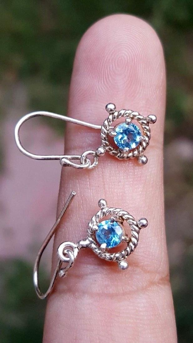 Blue Topaz Earrings - 2