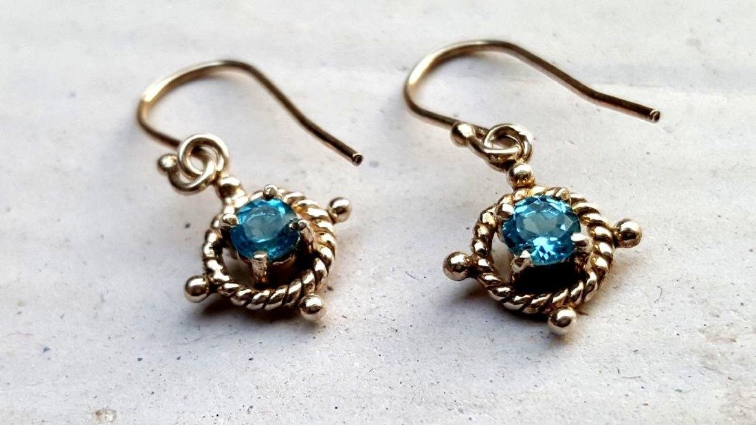 Blue Topaz Earrings - 3