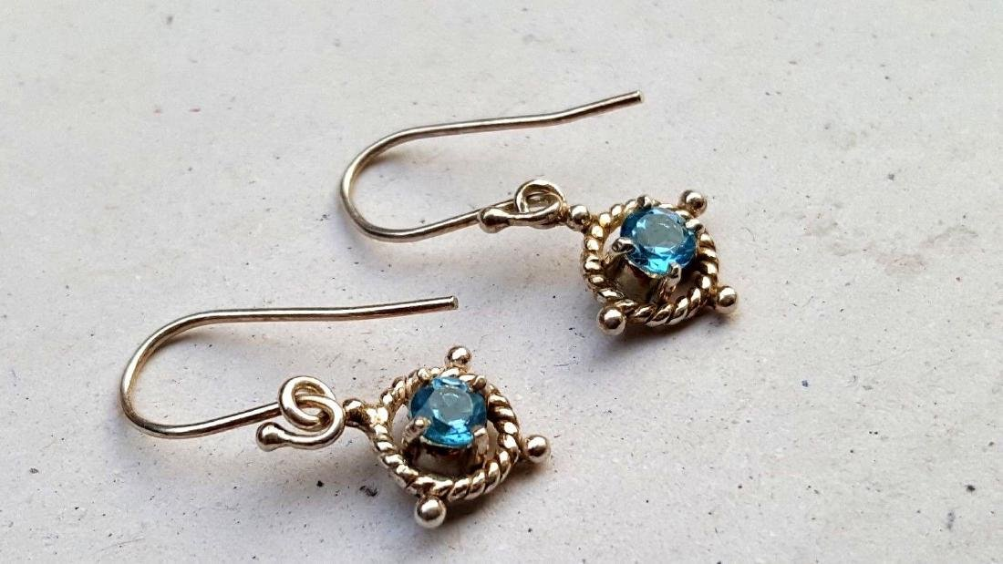 Blue Topaz Earrings - 4