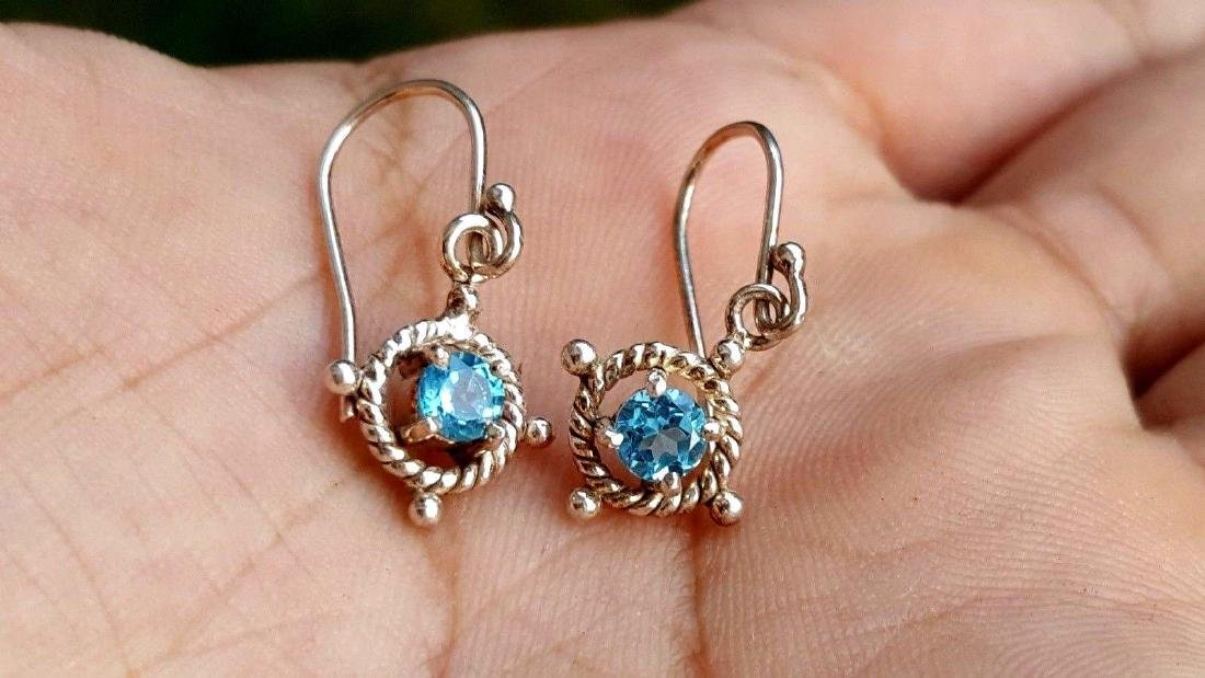 Blue Topaz Earrings - 5