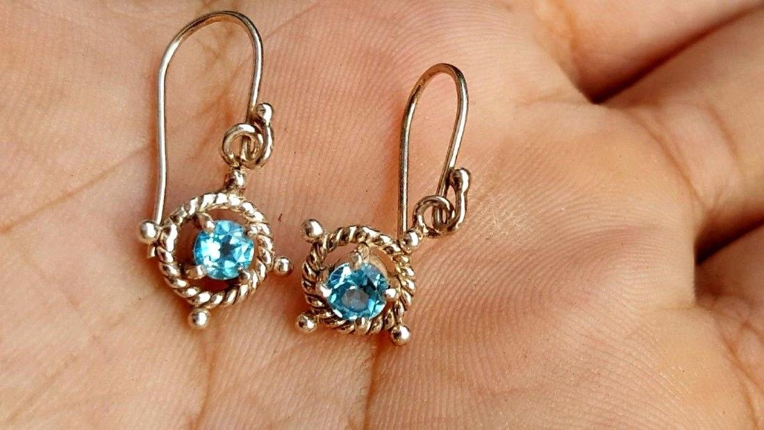 Blue Topaz Earrings - 6