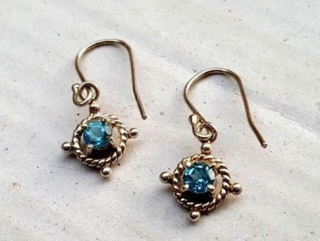 Blue Topaz Earrings - 7