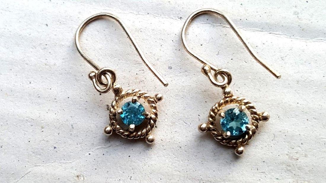 Blue Topaz Earrings - 8