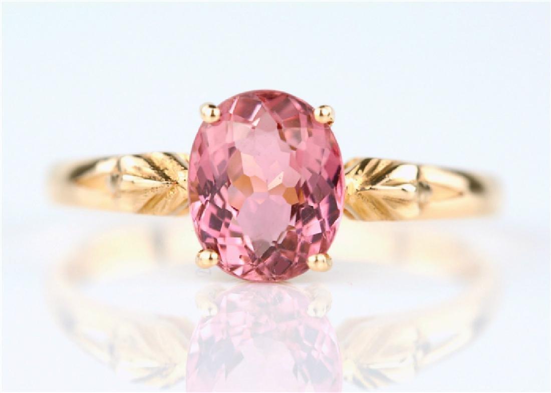 Certified-18K rose gold Pink Tourmaline ring
