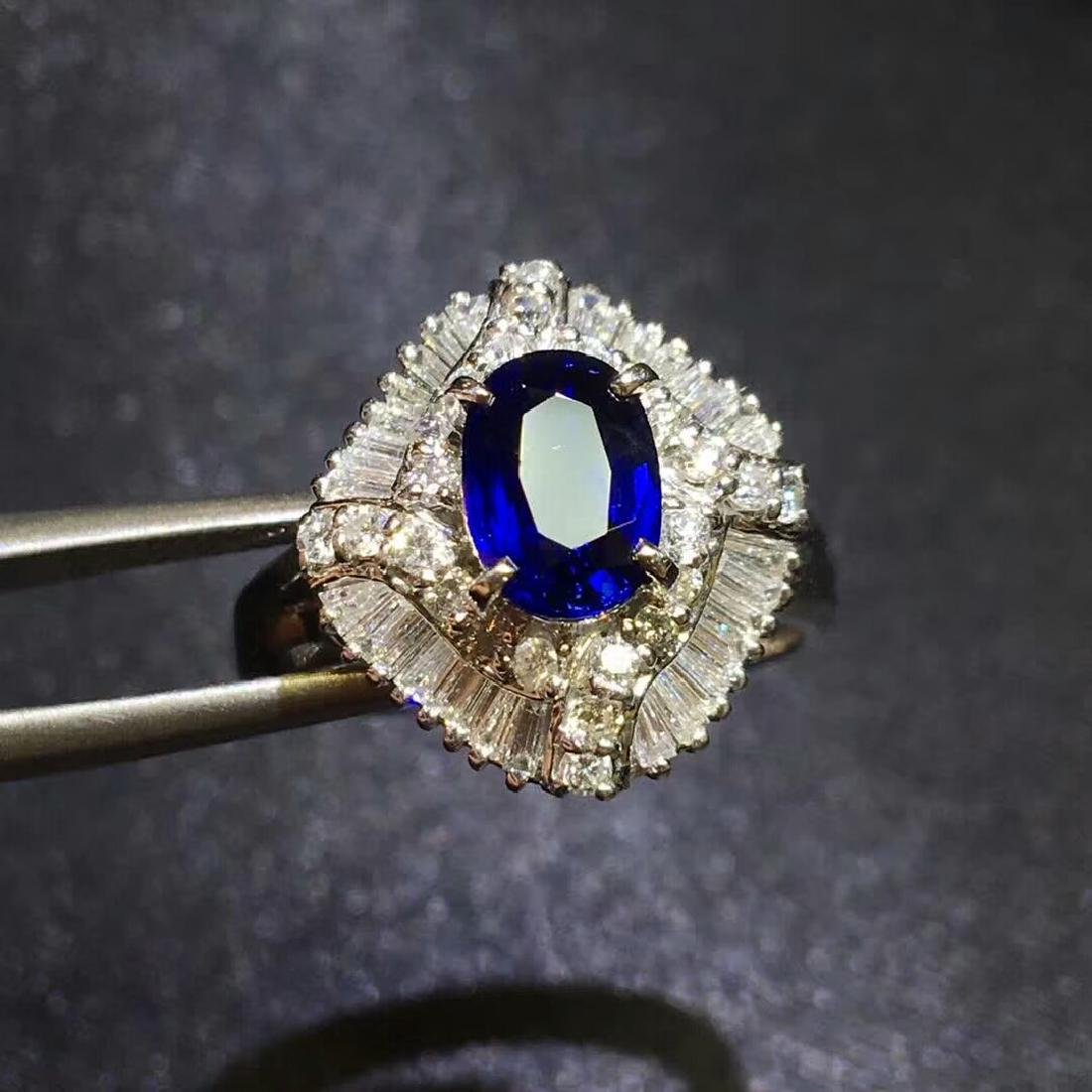 1.27ct Sapphire in Ring 18kt Gold
