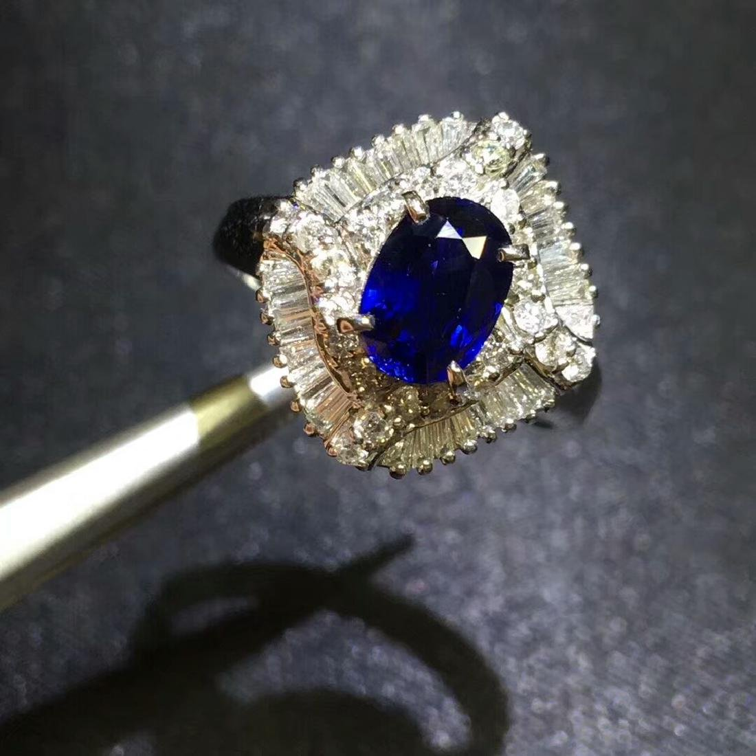 1.27ct Sapphire in Ring 18kt Gold - 3