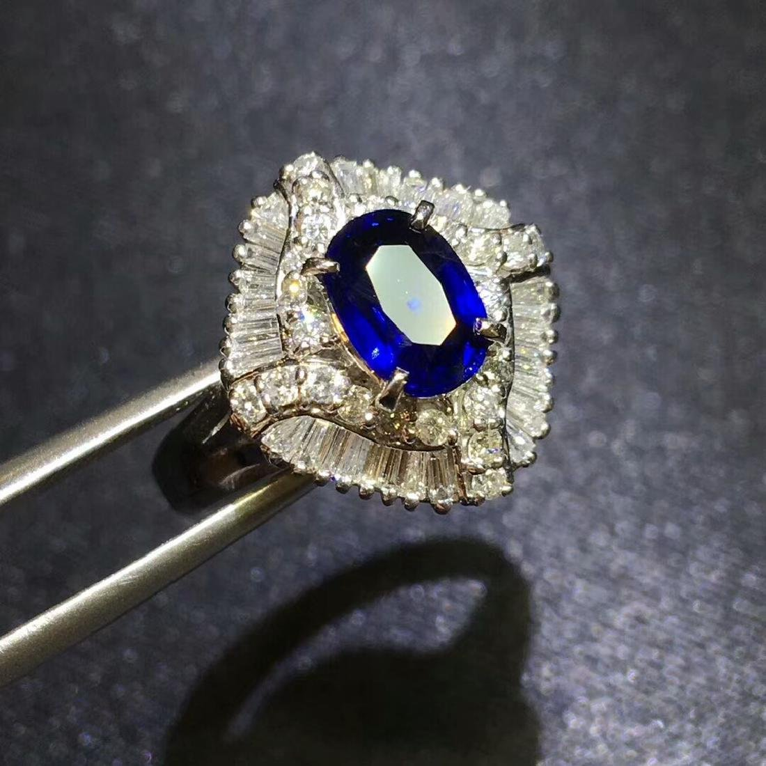1.27ct Sapphire in Ring 18kt Gold - 4