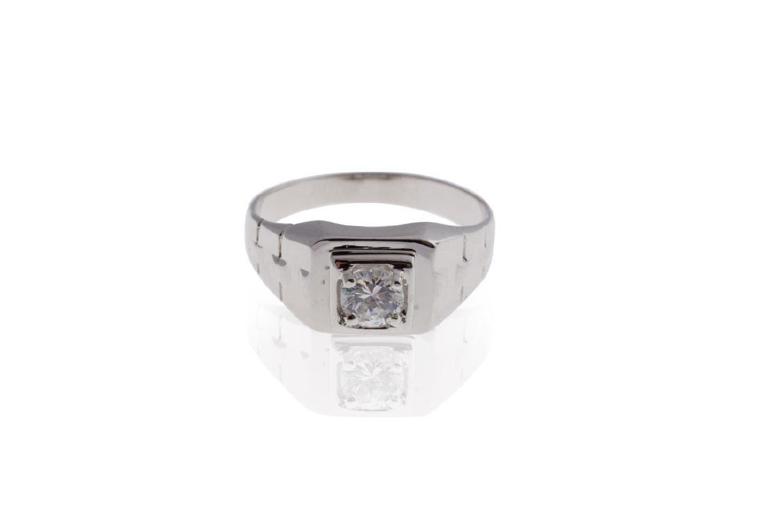 .925 Sterling Silver & Cubic Zirconia Ring - No Reserve