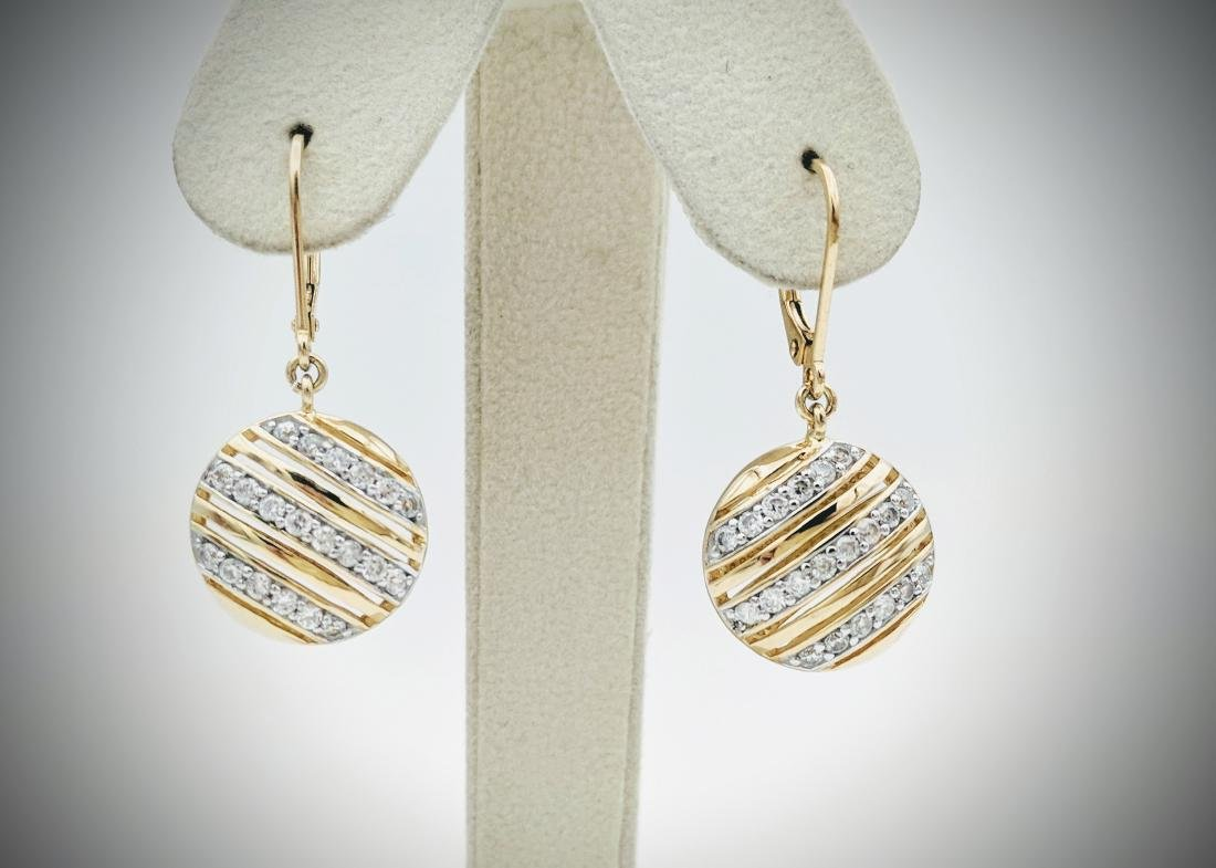 Gold Plated Dangly Cubic Zirconia Earrings