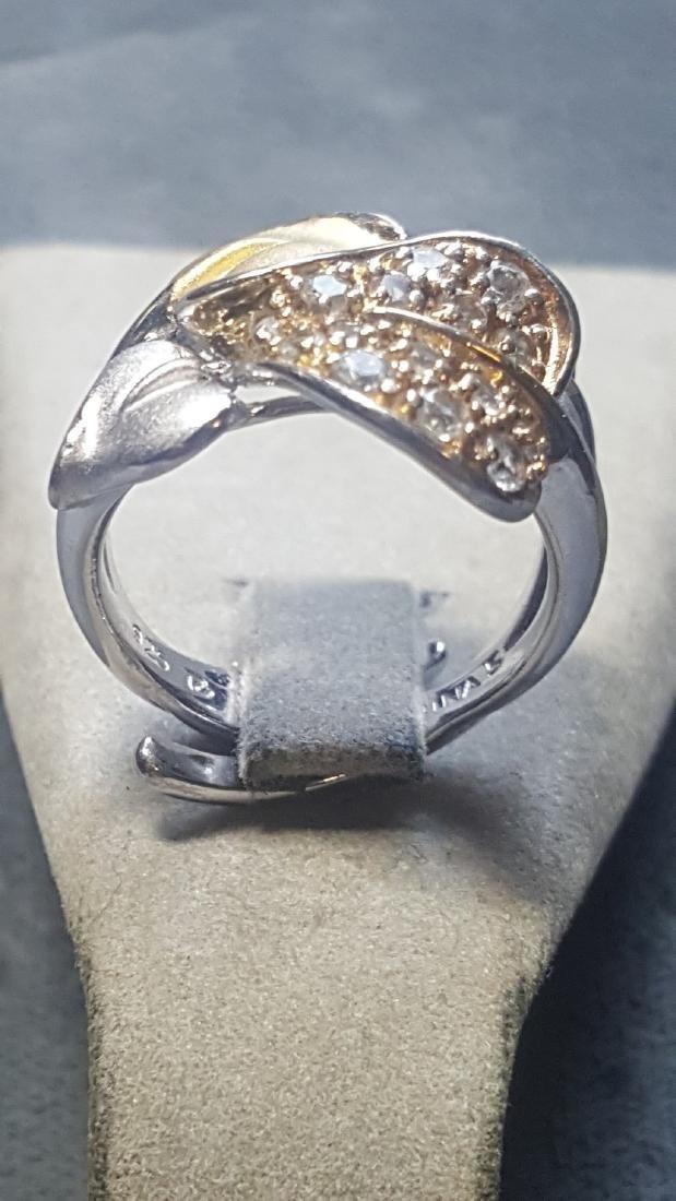 Anthurium  Ring w/ Wht Sapphires - 3