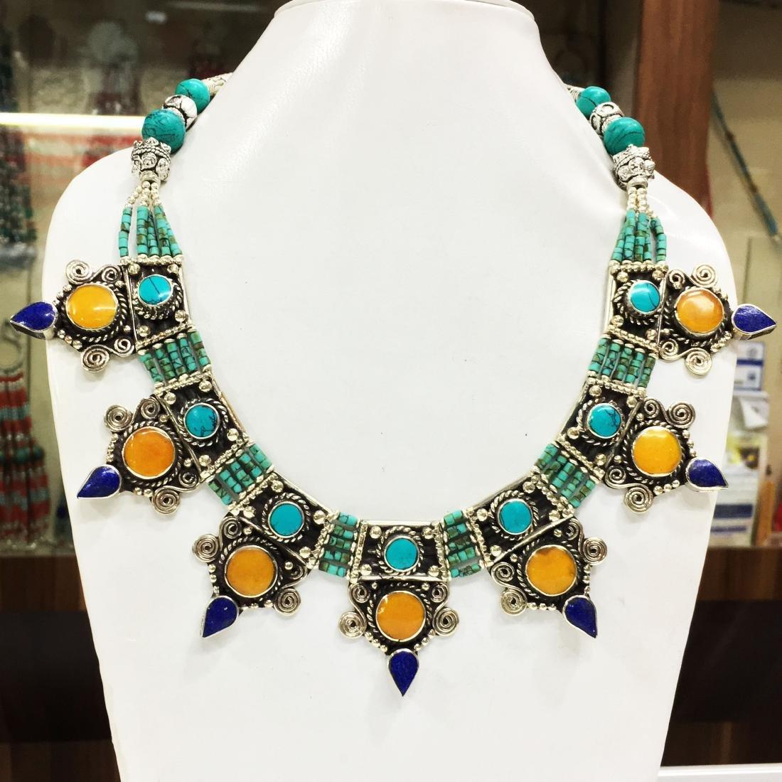 New Arrival - Tibetan Handmade Amber Nepali Necklace