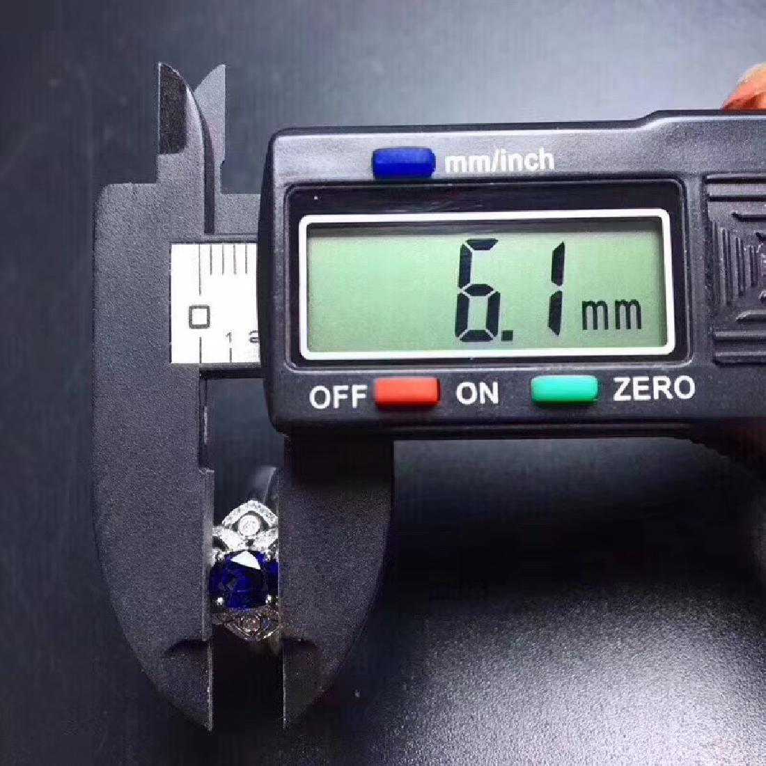 1.18 CTW Sapphire & VS Diamond Ring 18K - 7