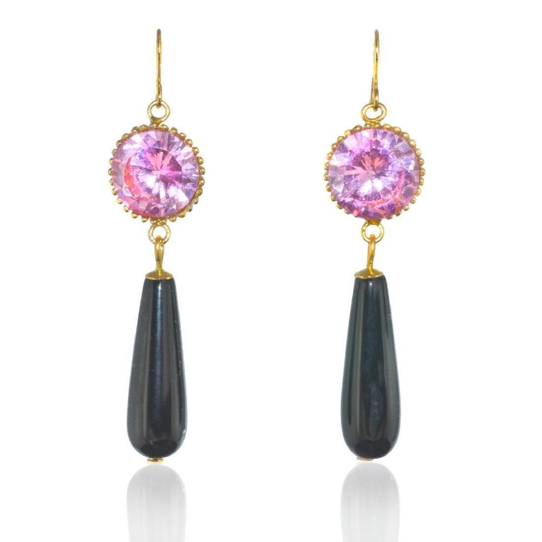Rose Noir Earrings