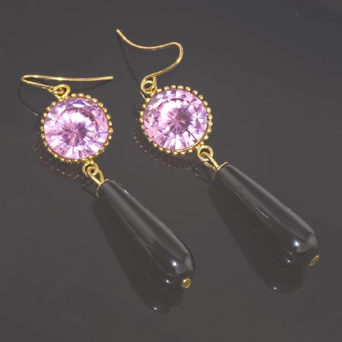 Rose Noir Earrings - 3