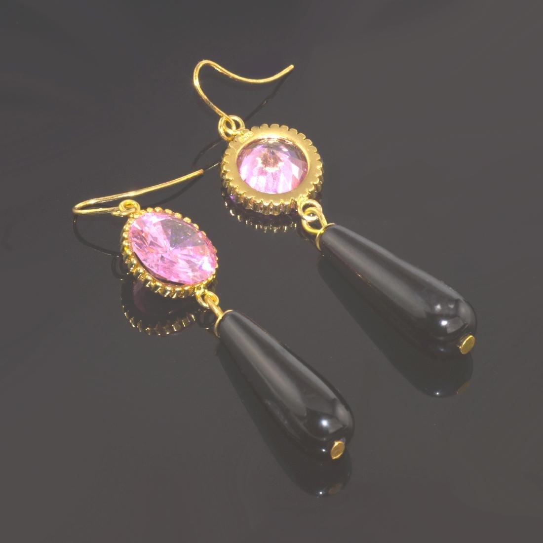Rose Noir Earrings - 4