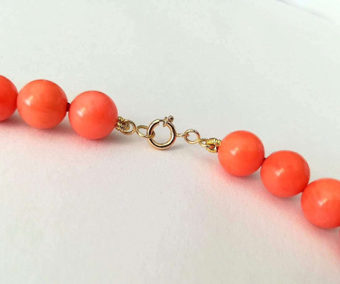 Coral necklace of the Mediterranean with gold clasp - 7