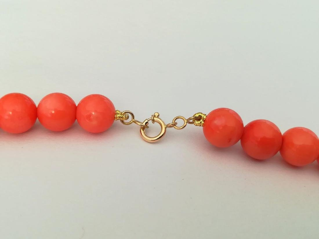 Coral necklace of the Mediterranean with gold clasp - 9