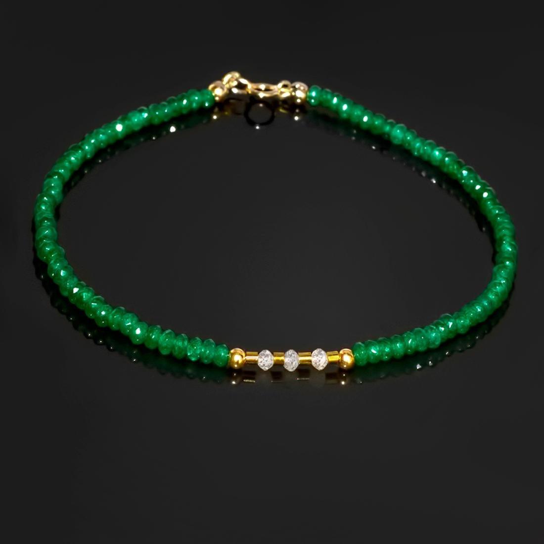 14K Retro Style Precious Jadeite Jade bracelet with