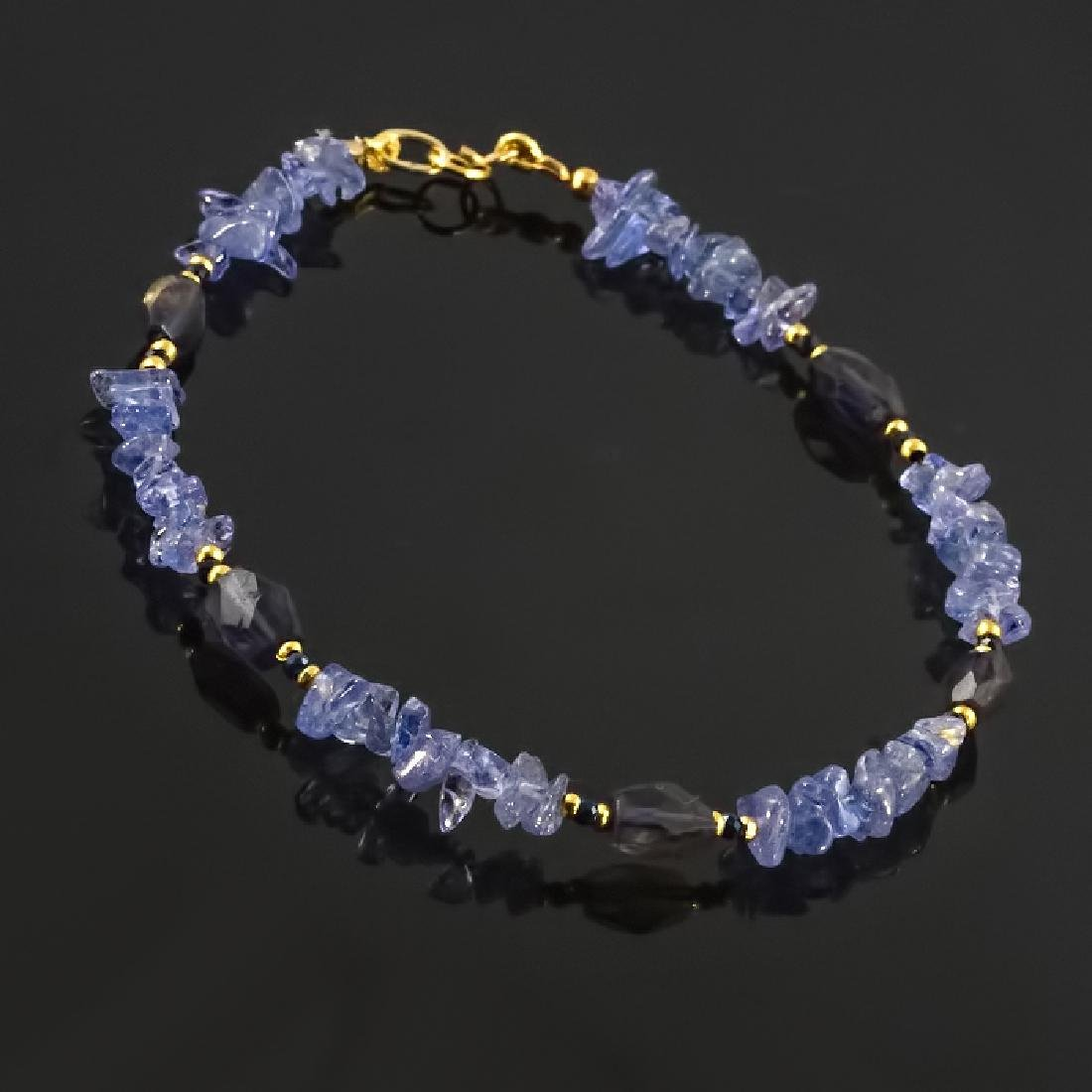 Tanzanite Bracelet with Sapphires - 3