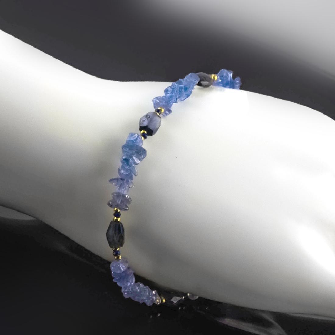 Tanzanite Bracelet with Sapphires - 5