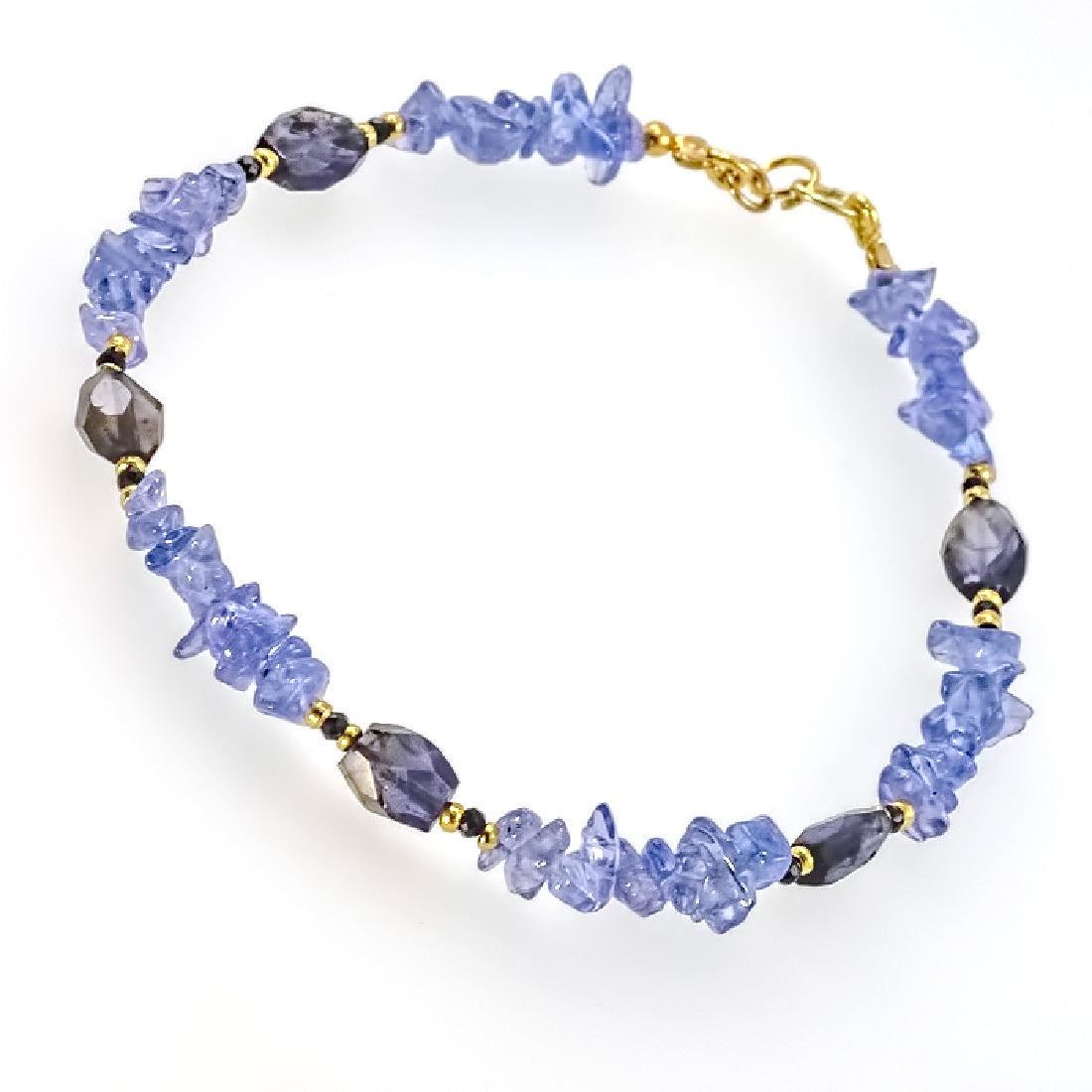 Tanzanite Bracelet with Sapphires - 6