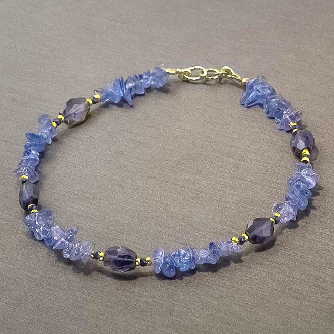 Tanzanite Bracelet with Sapphires - 7