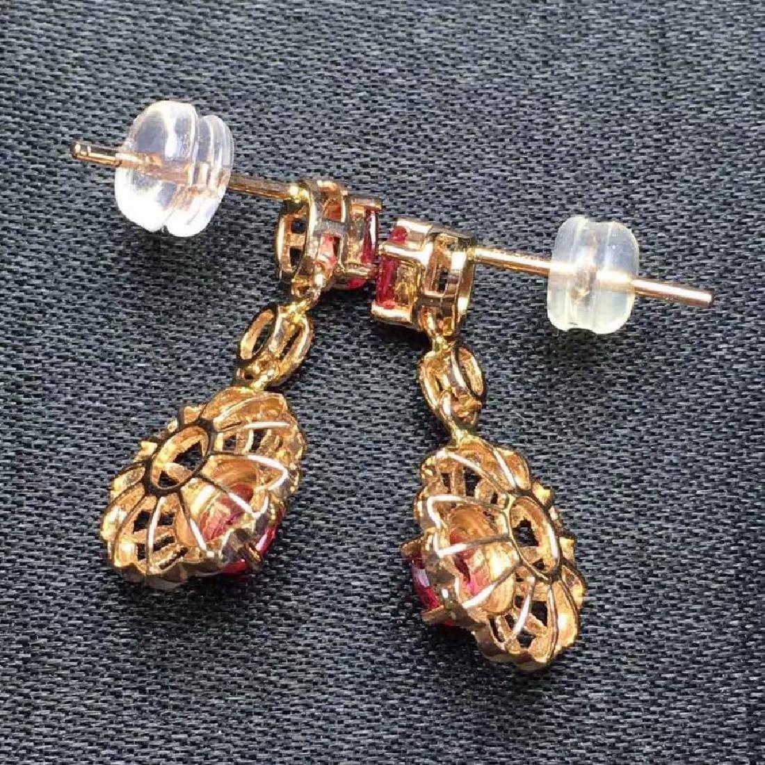 2.28 CTW Ruby & VS Diamond Earring 18K - 6