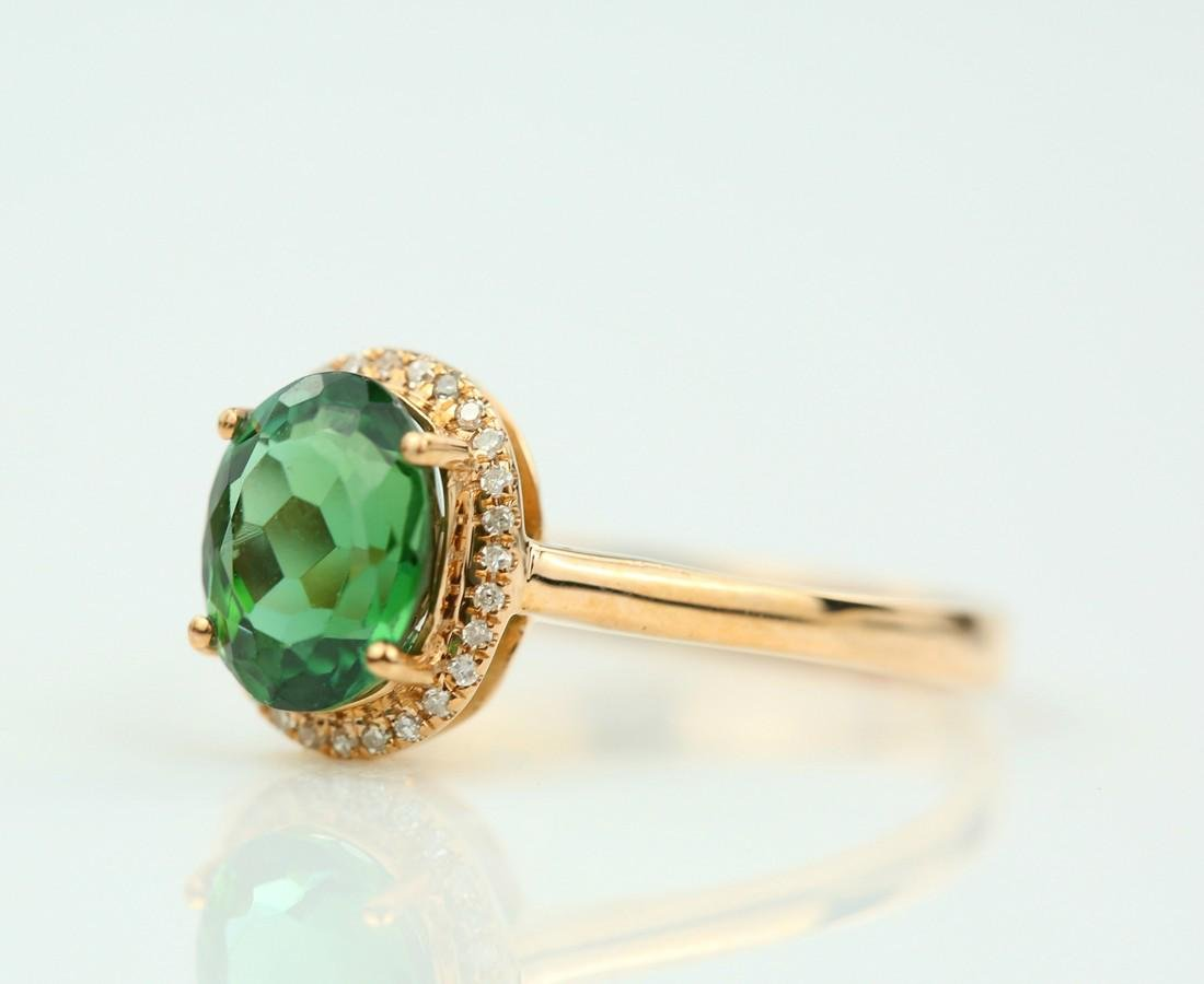 Certified-exquisite Tourmaline 18k rose gold ring - 3