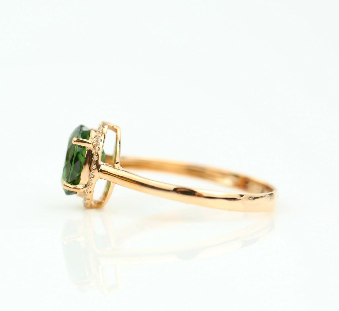 Certified-exquisite Tourmaline 18k rose gold ring - 5
