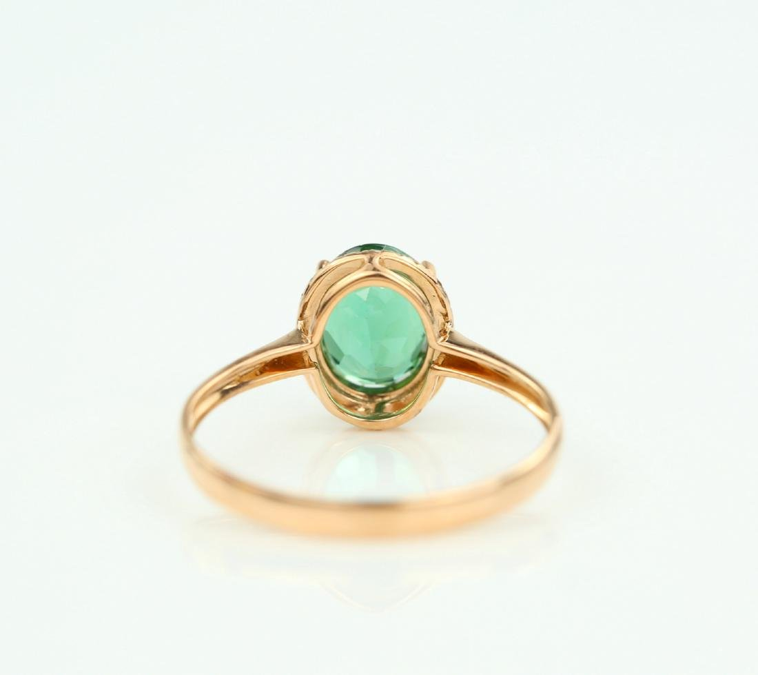 Certified-exquisite Tourmaline 18k rose gold ring - 6