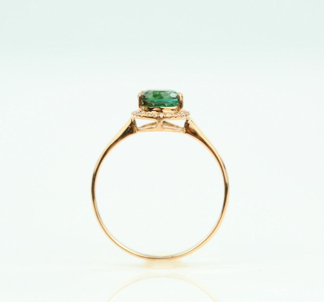 Certified-exquisite Tourmaline 18k rose gold ring - 7