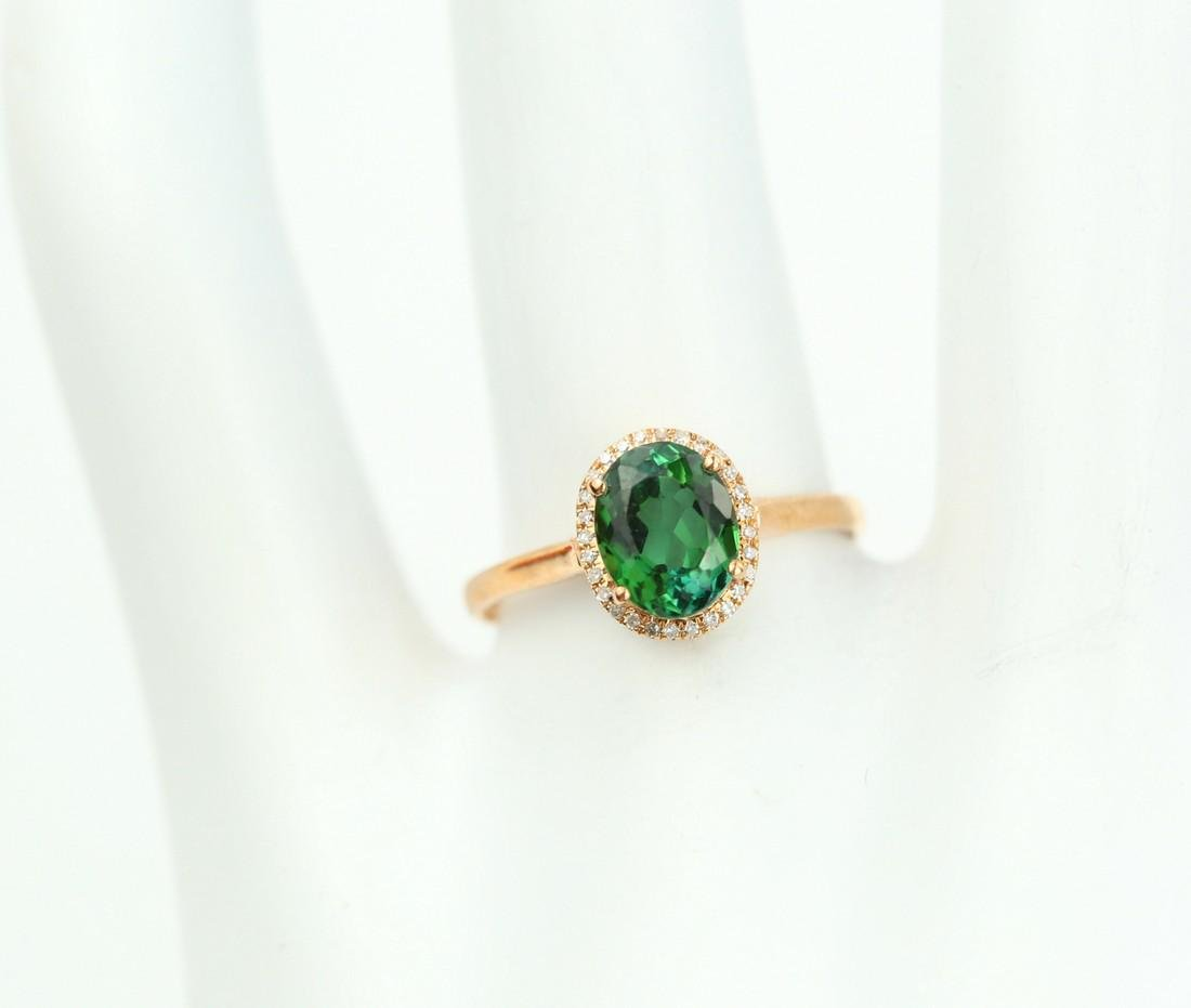 Certified-exquisite Tourmaline 18k rose gold ring - 8