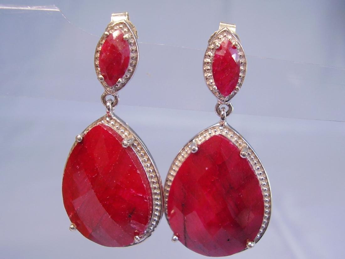 Ruby drop earrings