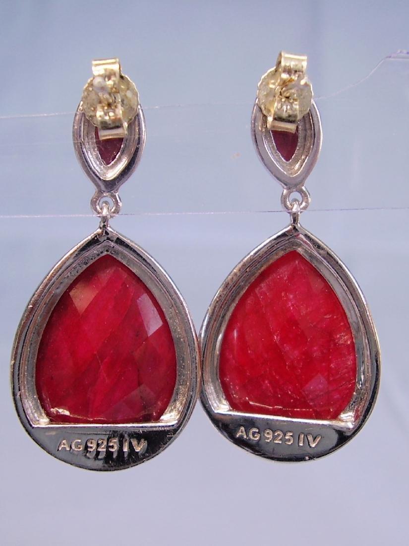 Ruby drop earrings - 2