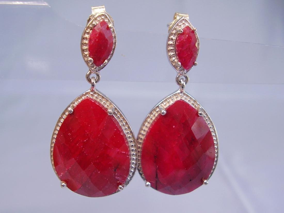 Ruby drop earrings - 3