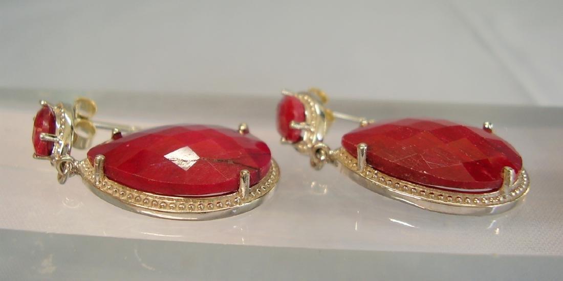 Ruby drop earrings - 4
