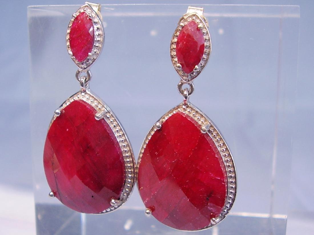 Ruby drop earrings - 5